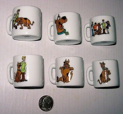 6 Scooby Doo Collectible Mini Ceramic Mugs