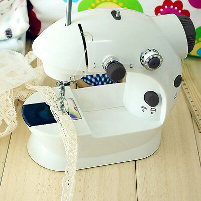 Portable Mini Electric Sewing Machine With Foot Pedal + Sewing Threader + Needle