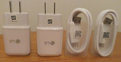 OEM Fast Charging Wall Charger&USB Type C Data Cable Cord For LG G5 G6 V20 Lot