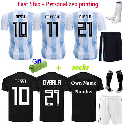 2018 Football World Cup Light Blue Kit Jersey Short Sleeve Kids Team Suit +Socks
