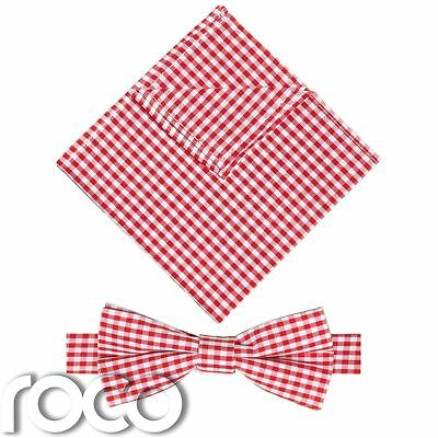 Boys Black Banded Dickie Bow and Pocket Square Set, boys Gingham bow Tie & Hanky