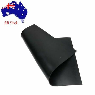 """20""""X20"""" 3mm Silicone Rubber Sheet Plate Mat High Temp Commercial Grade Black AU"""