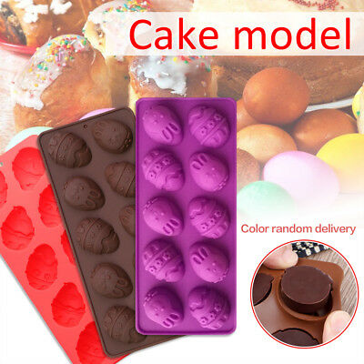 Easter Egg Silicone DIY Cake Pan Mould Bread Pizza Baking Tray Bakeware Mold H