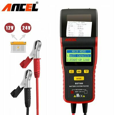 12V & 24V  Car &Truck Battery System Tester With Printer Battery Analyzer Ancel