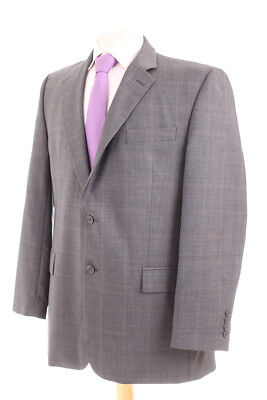 Chester By Chester Barrie Grey Check Men's Suit 42R Dry-Cleaned