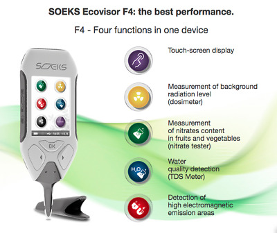 Soeks Ecovisor 4 in 1 Detector: Nuclear, EMF, Nitrates, Water - ENGLISH VERSION
