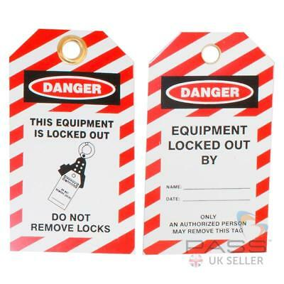 Lockout Tagout Tags - 'This Equipment is Locked Out...' - Pack of 10