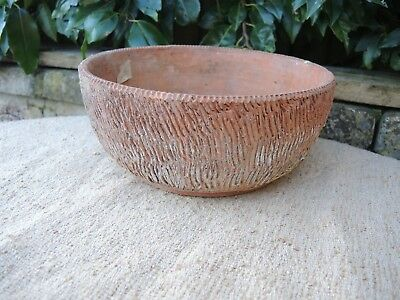 "Old Vintage Terracotta Plant Pot Bulb Bowl 8.5"" Diameter (1134)"