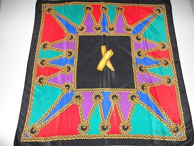 Beautiful Vintage PALOMA PICASSO 100% Silk Scarf with Hand-Rolled Edges!