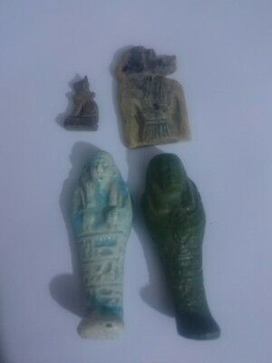 Rare Antique Ancient Egyptian lot of 4 amulet