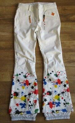ROSSIGNOL Womens White JCC Splash Ski Pants Trousers Ladies XS BNWT