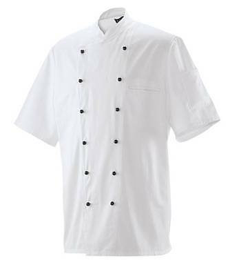 Chef Jacket Bakers Jacket Chef's Uniform short Sleeve White New