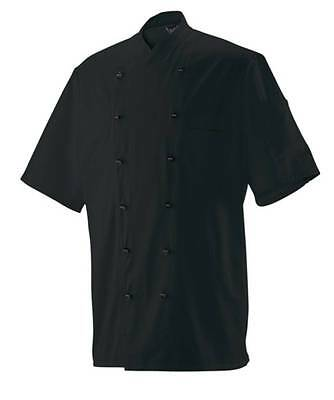 Chef Jacket Bakers Jacket Chef's Uniform short Sleeve Black New