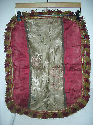 Antique Silk Damask and Brocade  Pillow/ Textile