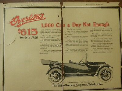 1919 and 1923 Overland Print Advertisements