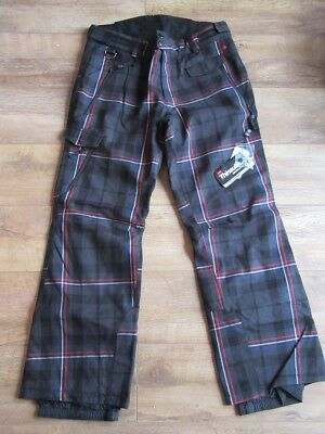 ROSSIGNOL Mens Stewart Grey Tartan JCC Insulated Ski Pants Trousers XL BNWT