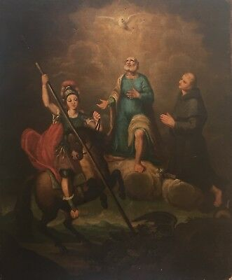 St. George and the Dragon Old Master Oil Painting 17th Century Spanish School