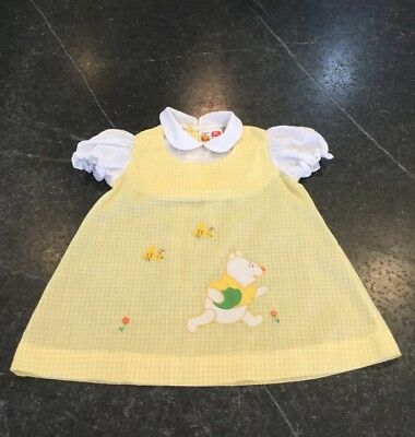 Vintage Sears Winnie The Pooh Collection Girls Dress Size 3T Disney Rare!