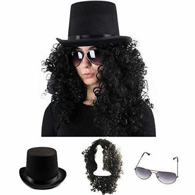 Rockstar Costume - 80s Costumes for Men - Heavy Metal Wig - (3 Pc Set) by Tigerd