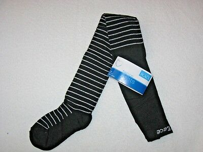 Children's Place Black Tights with SILVER Stripe Dressy  Size 4-5 NWT