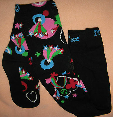 Children's Place Black Tights, Stars Peace Hearts Music Notes Size 4-5  6-7  NWT