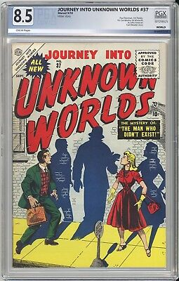 JOURNEY INTO UNKNOWN WORLDS #37 PGX VF+ 8.5 - 2nd HIGHEST PRO GRADE - RARE ATLAS