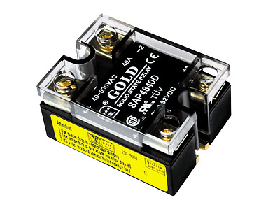 3-32VDC-in, 40-530VAC-out, 40A Solid State Relay (DC-AC, UL/CSA, MPN#SAP4840D)