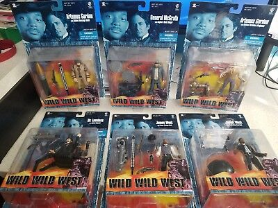 Wild Wild West movie action figure collection will smith 6 figures never opened
