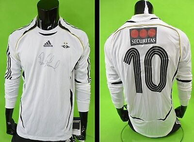 2007-08 adidas Rosenborg BK Home Shirt SIGNED Long Sleeve PLAYER ISSUE no.10 (L)