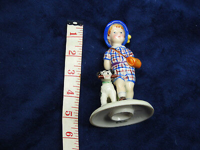 Vintage Hummel Goebel German Porcelain: Kathe Kruse Figurine Girl With Dog