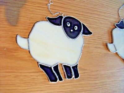 Stained Glass handmade sheep sun-catcher / window decoration