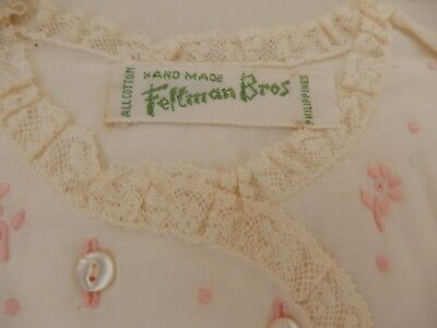 Vintage Hand Made Feltman Bros Embroidered Infant Baby Top Unused in Box St Paul