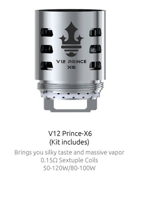 SMOK TFV12 PRINCE Coils - TFV12- X6 - Buy 1 or 3 coils - Low Introductory Price