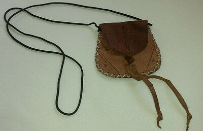 Antique Traditional Vintage Moroccan Brown Bag 100% Pur Leather Handmade