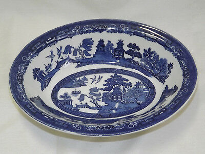 Vintage Johnson Brothers England Blue Willow Oval Vegetable Bowl - buy up to 3