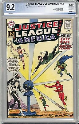 JUSTICE LEAGUE OF AMERICA #12  GORGEOUS  PGX NM 9.2 - 1st DR. LIGHT - SCARCE