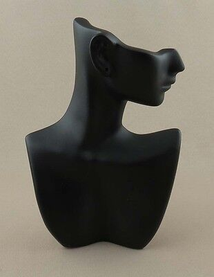 Side Profile Earring/Necklace Display, black