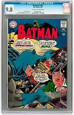 Batman #199  Gorgeous  Cgc Nm/m 9.8 - Highest Cgc Grade -  Truly Awesome Cover