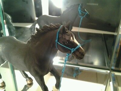 Hand Made Blue Rope Halter for Schleich Horses