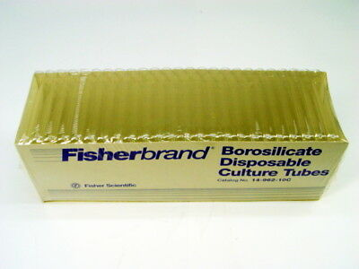 Fisher 14-962-10C Borosilicate Disposable Culture Tubes