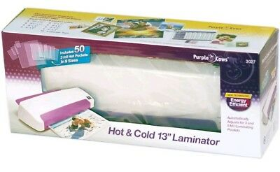 Purple Cows Hot and Cold Laminator, 13-Inch, with 50 Hot Pockets (3027)