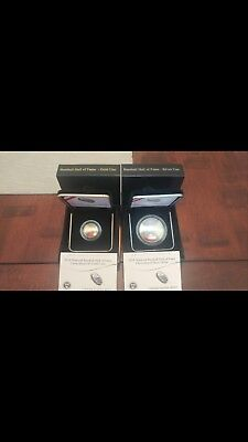 2014-W National Baseball Hall Of Fame Unc $5 Gold Coin And 2014 Unc $1 Silver