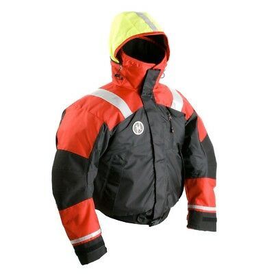 NEW First Watch Ab-1100 Flotation Bomber Jacket - Red/black - Large Ab-1100-rb-l