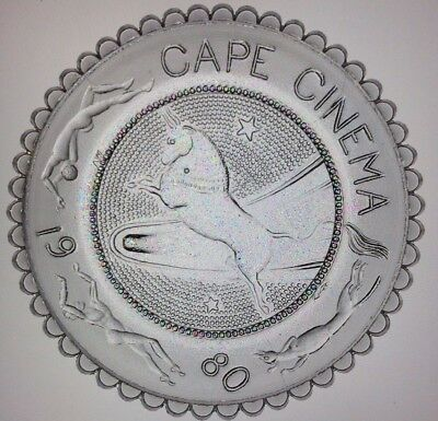 Cape Cinema Pairpoint Cup Plate 97V Dennis 50 Yrs Rockwell Kent Mural Bull Rare