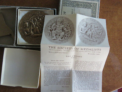 """Medallic Art Co. Society Of Medalists: """"armor / Battle Done""""  #64 Nat Choate"""