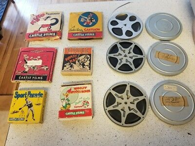 Lot of 9 Vintage 16mm and 8mm Cartoon Reels Woody Woodpecker, Krazy Kat other NR