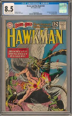 Brave and the Bold #42 CGC 8.5 (OW-W) Hawkman earns Honor Wings
