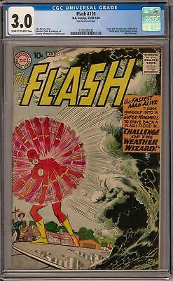Flash #110 CGC 3.0 (C-OW) Origin & 1st appearance of Kid Flash
