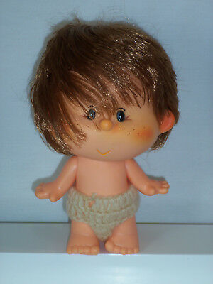 "Vintage Rubber Doll Sekiguchi 7"" Big Head Hair Freckles Jointed Arms Bunny"