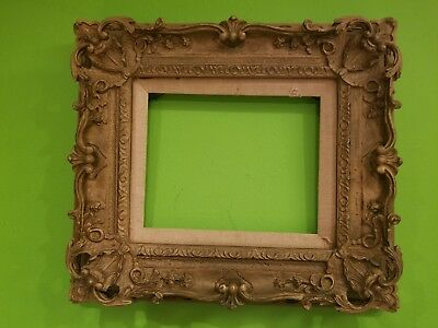 Antique Vintage Wodden Carved Gold Gilt Ornate Gesso Frame Rococo Victorian 8x10